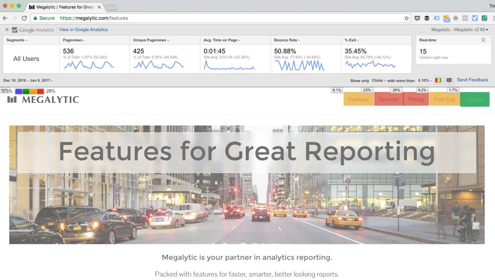 Google Page Analytics Chrome Extension