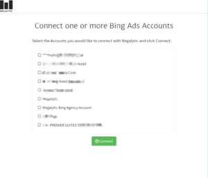 Select a Bing Ads Account