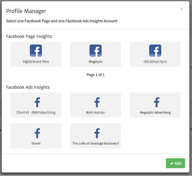Select Each Facebook Connection