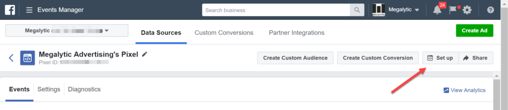 Set Up a Pixel with Facebook Business Manager
