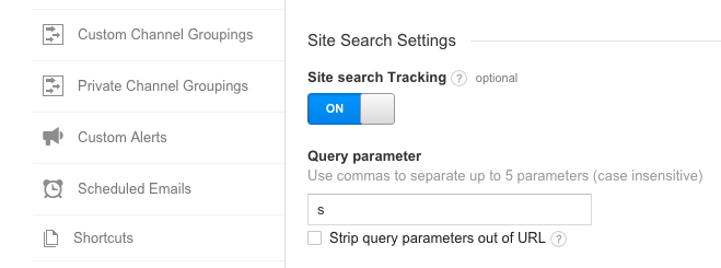 Setting up Site Search