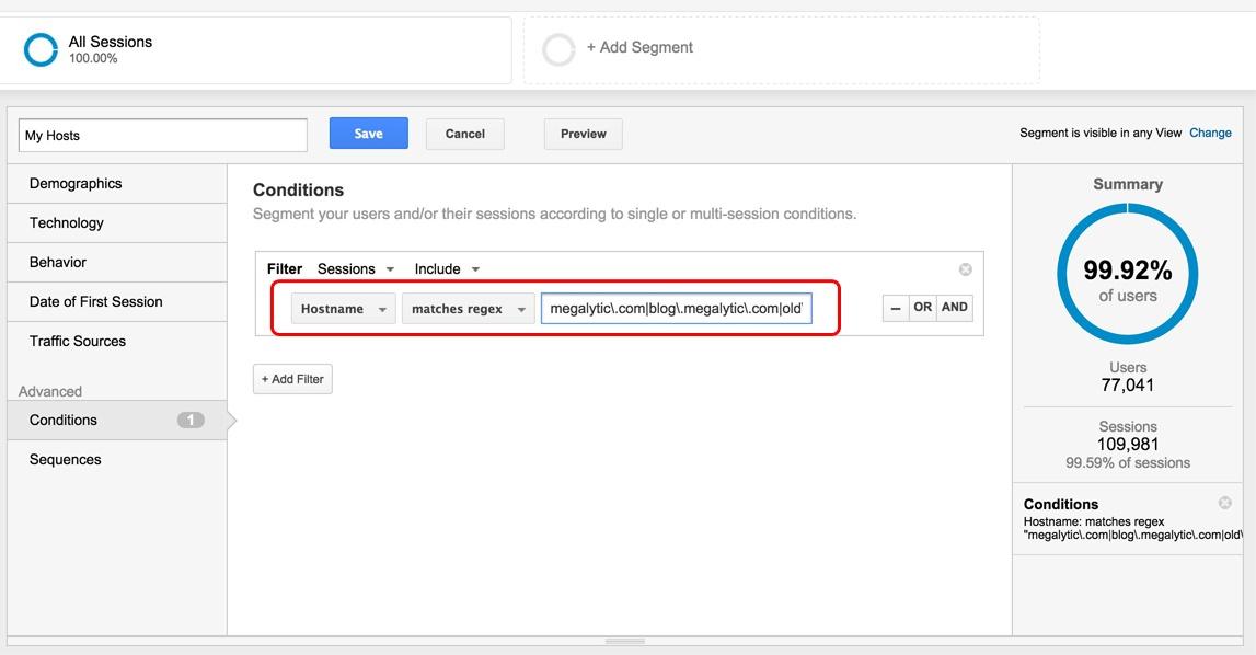 Google Analytics Use Segment to Test FIlter
