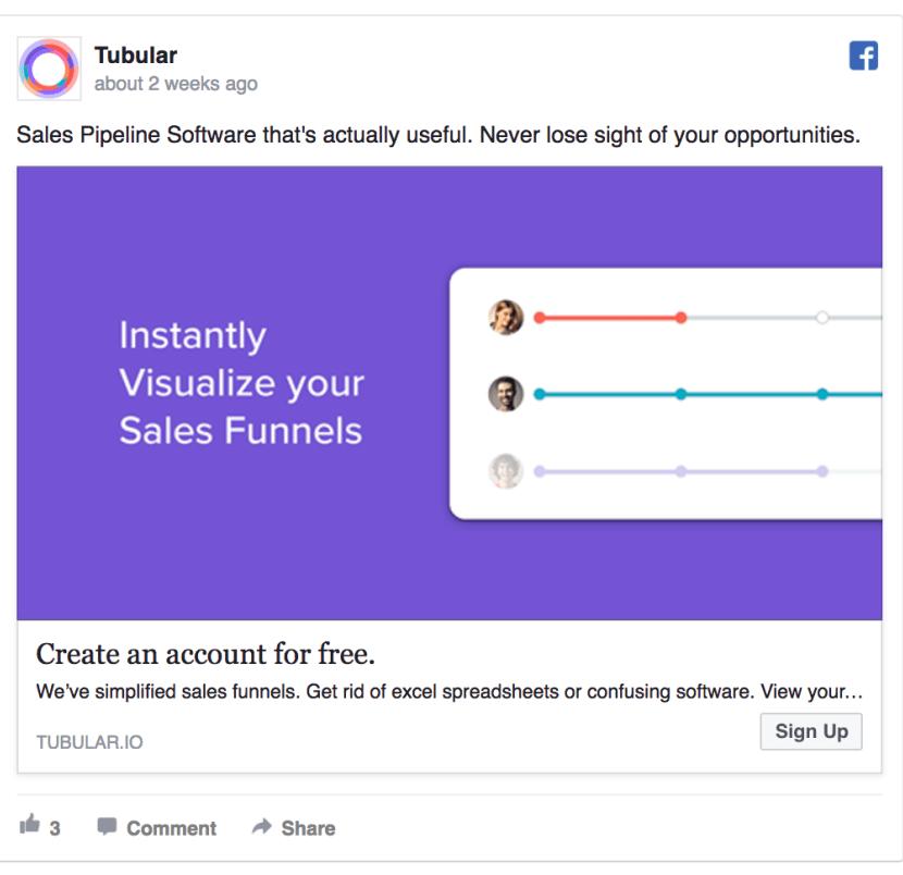 Tubular Facebook Lead Ad