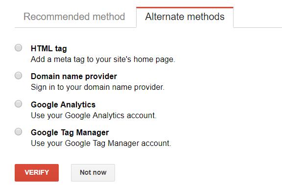Verify a Google Search Console Property