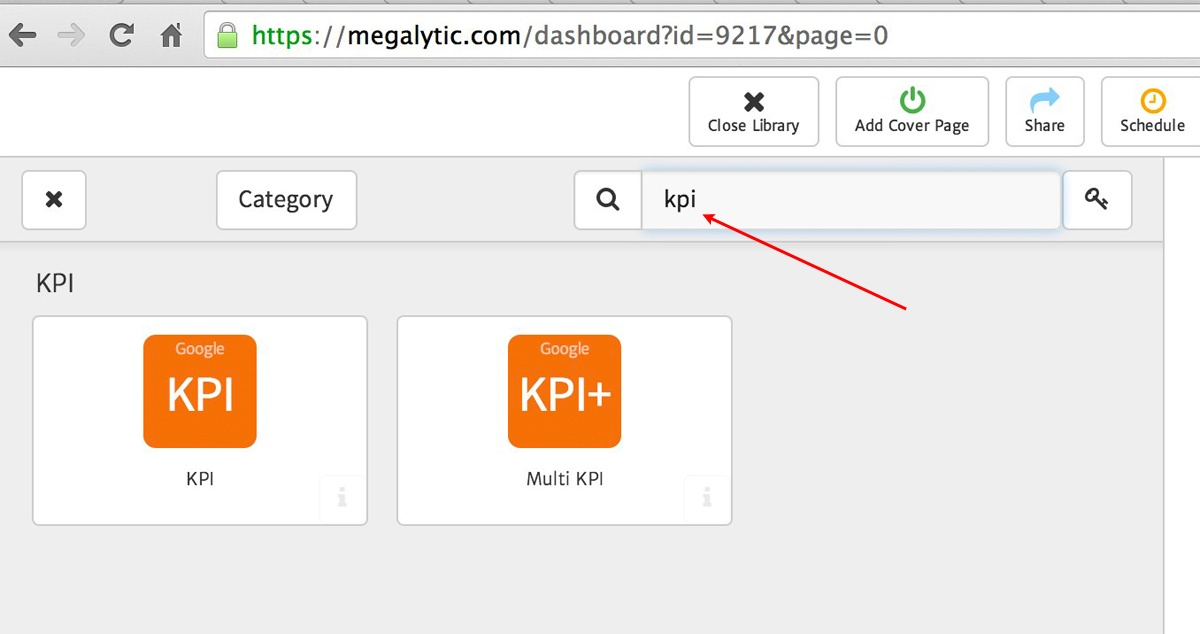 Using the Search Filter in Megalytic's Widget Library